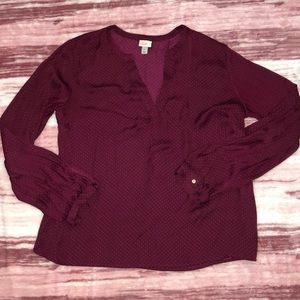 🌸3 for $20 A NEW DAY Polka Dot Blouse